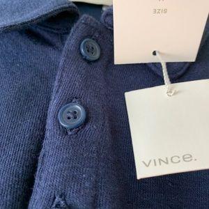 "VINCE NWT Men's ""Coastal"" Blue Polo Shirt"